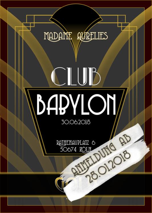 Club Babylon LARP Vorverkaufs Graphik