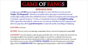 Vorschaubild des GoogleDocs-Dokument für Game of Fangs