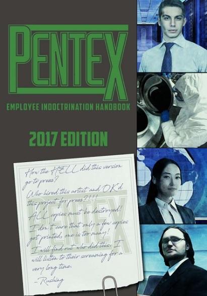 """Cover des Buchs """"Pentex Employee Indoctrination Handbook 2017 Edition"""" (für W20)"""