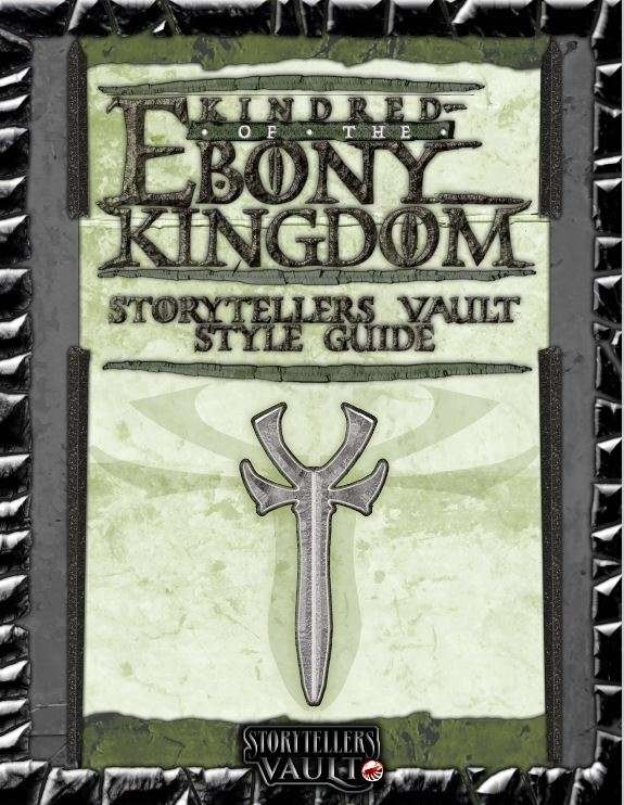 Storytellers Vault: Kindred of the Ebony Kingdom Style Guide Buch Cover