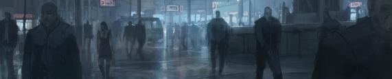 WoDNews Kopfgraphik (Menschen bei Nacht in einer belebten Stadt)