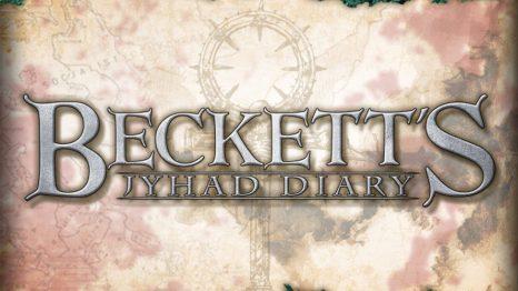 Becketts Jyhad Diary Schriftzug