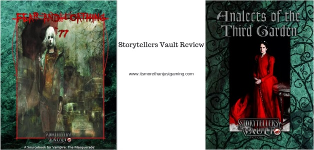 "Storytellers Vault Reviews - Fear and Loathing & Analects of the Third Garden - auf dem ""It's More Than Just Gaming""-Blog"
