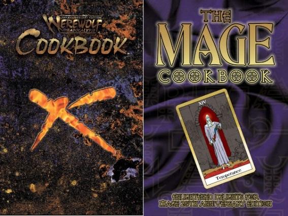 DriveThruRPG.com Covers für das W20 Kochbuch und das M20 Kochbuch