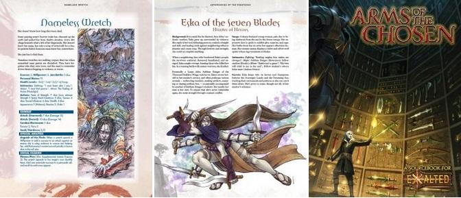 Frisch Veröffentlicht - Onyx Path Publishing - Die letzten beiden Februar Wochen (Collage aus 3 Bildern von veröffentlichten Produkten)