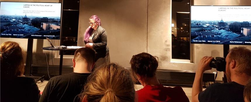 Nordic Larp Talk Malmö 2018 - Maria Pettersson über Parliament Of Shadows Foto 1/3
