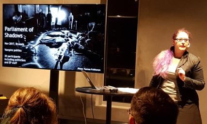 Nordic Larp Talk Malmö 2018 - Maria Pettersson über Parliament Of Shadows Foto 3/3
