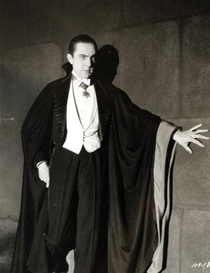 Bela Lugosi als Dracula in dem 1931 Film Vampire