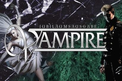 Jubiläumsausgaben Vampire Banner Ulisses Spiele - Übergang von Vampire aus der alten Welt zu Vampire Maskerade