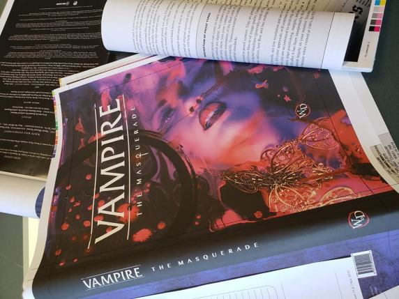 V5 - Vampire: The Masquerade 5th Edition - Druckfahne/Druckprobe des Cover