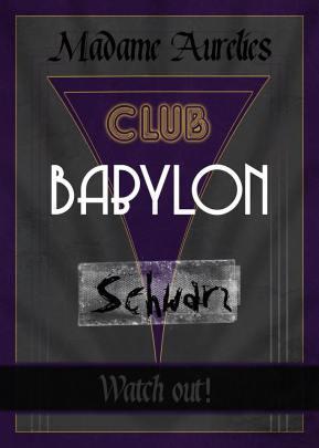 LARP - Club Babylon Schwarz - Ankündigungsgraphik