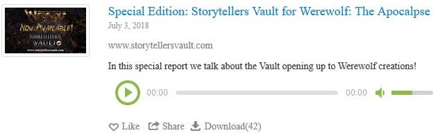 Werewolf: The Podcast - WtA Storytellers Vault Episode