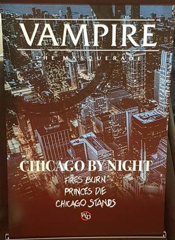 V5 - Chicago By Night - White Wolf/Onyx Path Publishing - Mein Photo der GenCon Banderole