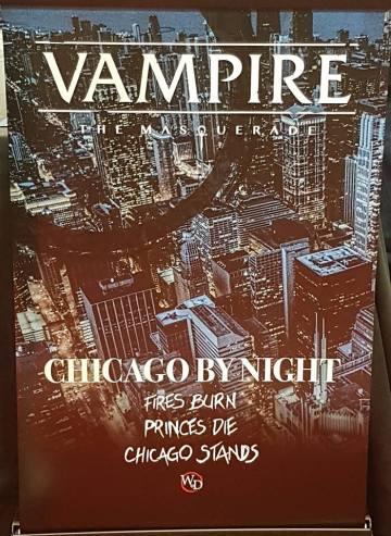 V5 - Chicago By Night - White Wolf/Onyx Path Publishing - Mein Photo der GenCon Banderole