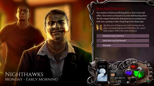 Nighthawks - The Vampire RPG - Spielszene mit einem vampirischen Gangsterboss