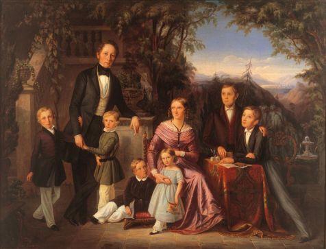 V5 - Cleaver - Bild der Aachner Familie Janssen 1843 von Clemens Bewer