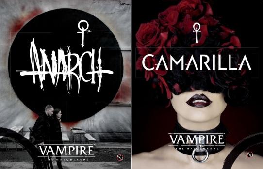"""Cover der V5 Ergänzungsbände """"Anarch"""" und """"Camarilla"""""""