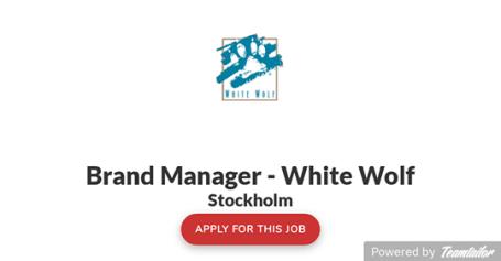 Paradox Interactive - Stellenanzeige für Brand Manager für White Wolf