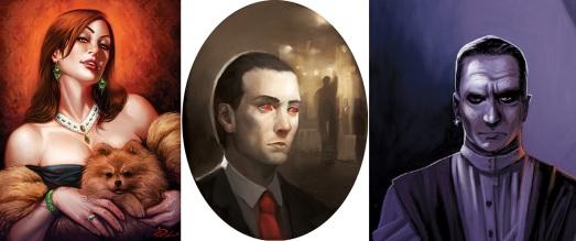 V:TES - Charakter Portraits - Gwendolyn Fleming, Hiram DeVries, Osric Vladislav