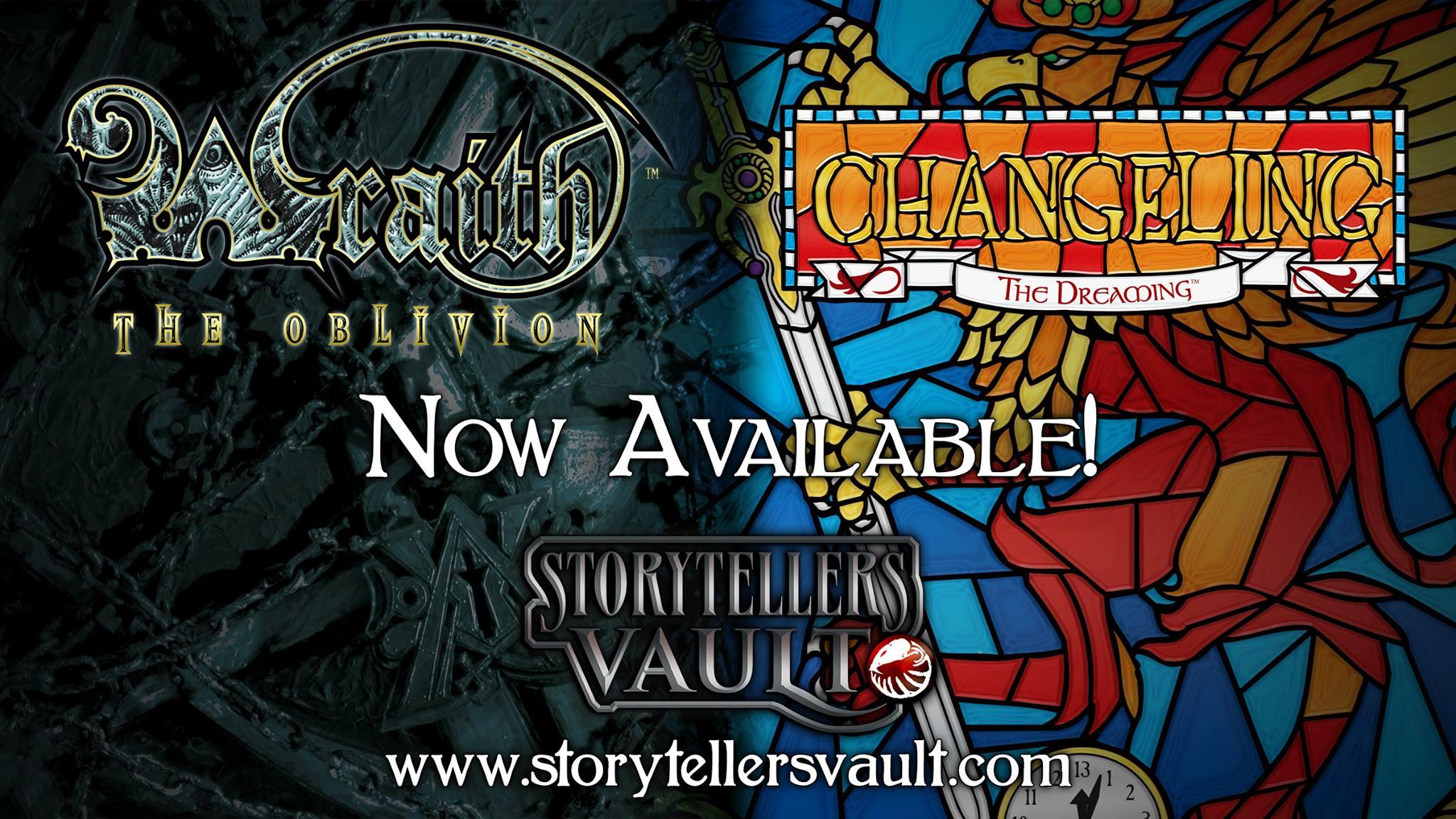 Storytellers Vault - Wraith The Oblivion, Changeling The Dreaming - Banner - Freischaltung