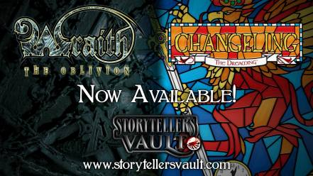 Storytellers Vault - Wraith The Oblivion, Changeling The Dreaming - Banner - Freischaltung