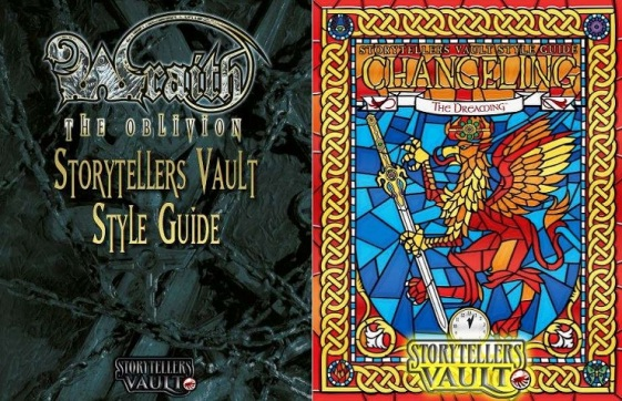 Storytellers Vault - Style Guides - Wraith The Oblivion, Changeling The Dreaming_StyleGuide - Cover