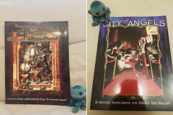 Neue Abenteuer - The Artisans Handbook und City of Angels - Covers