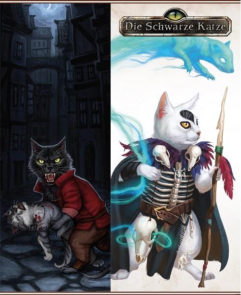 Crowdfunding - Die Schwarze Katze - Vampir Katze (links) Zerzalkind (rechts)