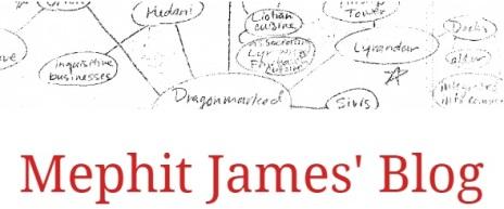 Mephit James' Blog - Header Graphik
