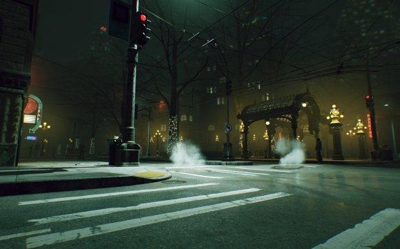 Vampire: The Masquerade Bloodlines2 - Pioneer Square mit Arkaden