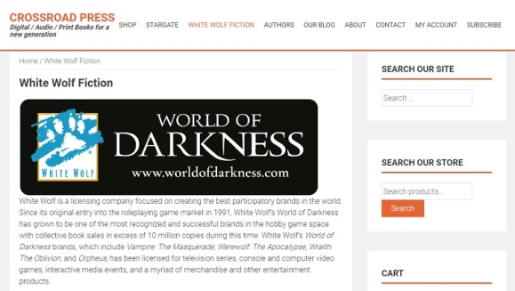 Crossroad Press - Screenshot - White Wolf Fiction