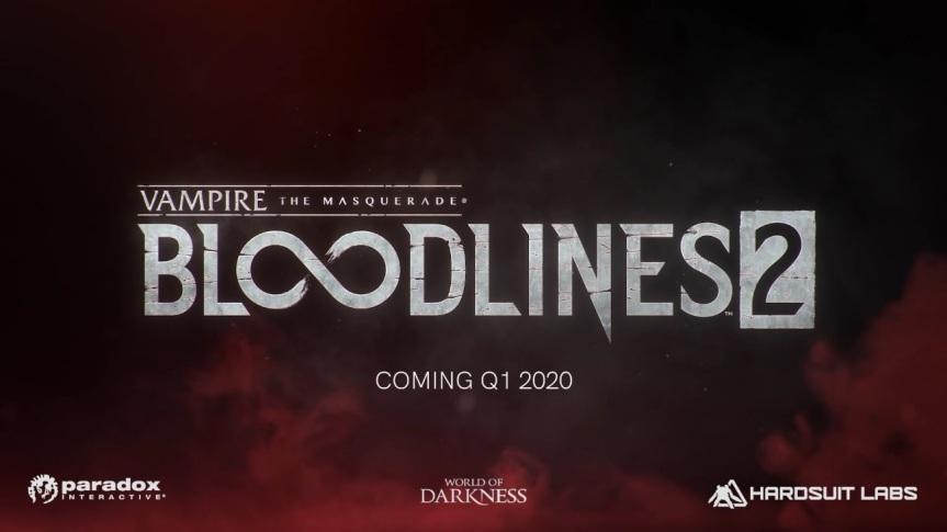 Vampire The Maquerade - Bloodlines 2 - Erscheint 1. Quartal 2020