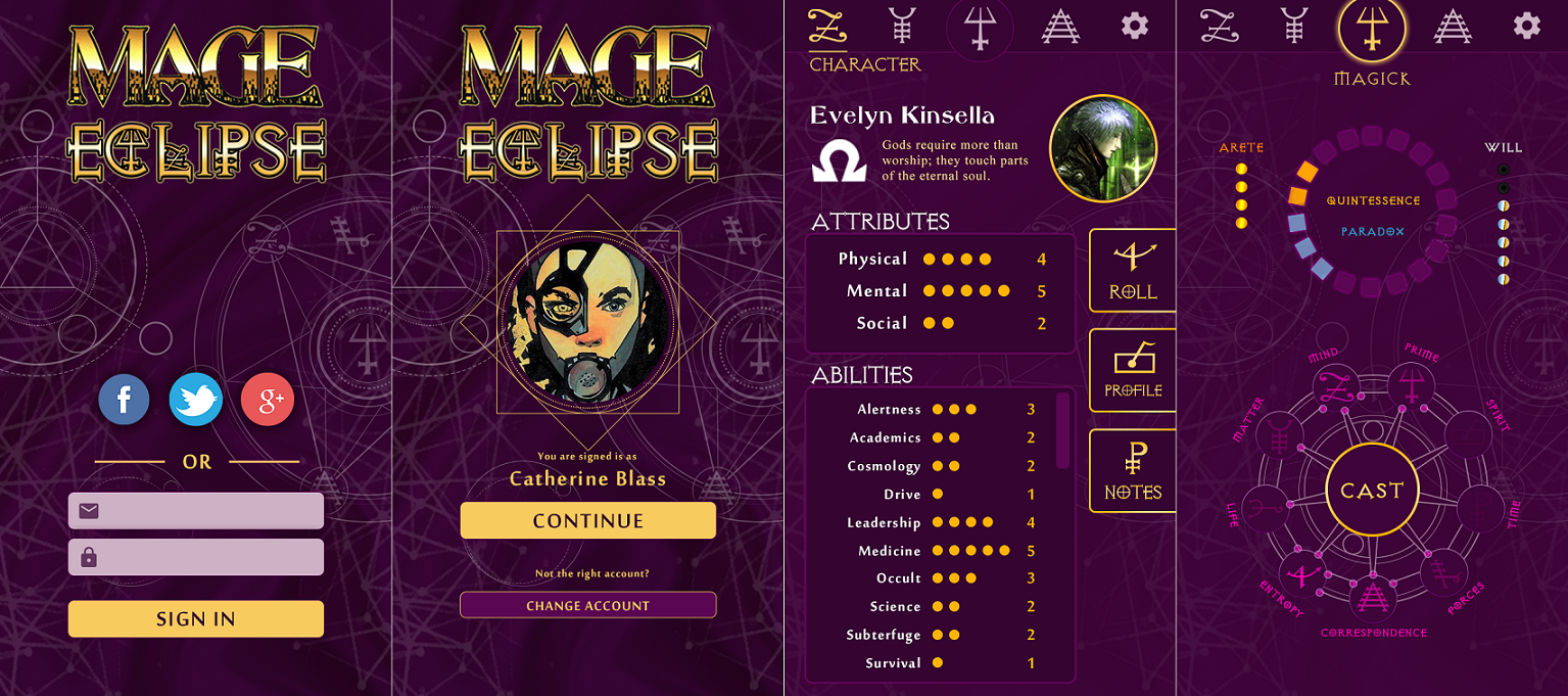 Mage The Ascension: Eclipse - Smartphone App Entwurf