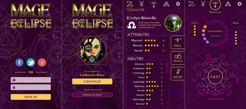 Mage: The Ascension Eclipse – Larp und Unterstützung perApp