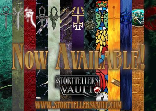 Storytellers Vault - Banner der Welt der Dunkelheit Spiele