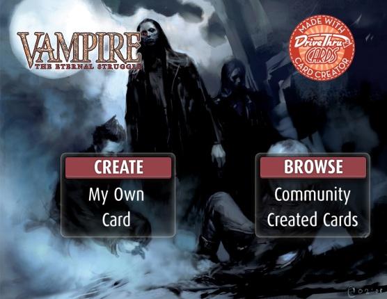 Vampire: The Eternal Struggle - Karten Generierung & Fanveröffentlichung