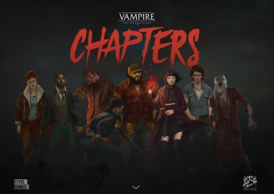 Vampire: The Masquerade - CHAPTERs - Legacy Brettspiel von Flyos Games - Screenshot der Webseite