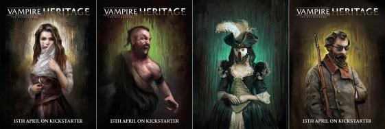 Collage von Charakteren aus V:tM Heritage