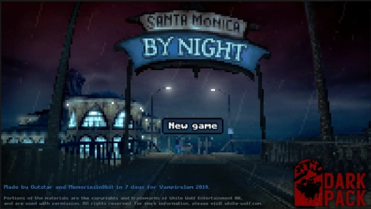 Santa Monica by Night - Screenshot des Eröffnungsbildschirms