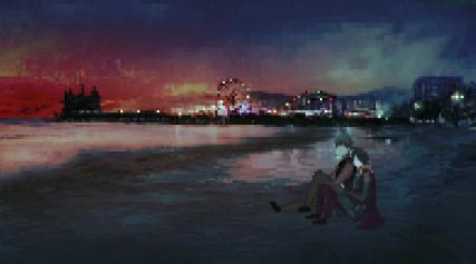 Santa Monica by Night - Strandszene