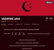 Vampire Jam - Itch.io - Übersichtsseite (Webseiten Screenshot)