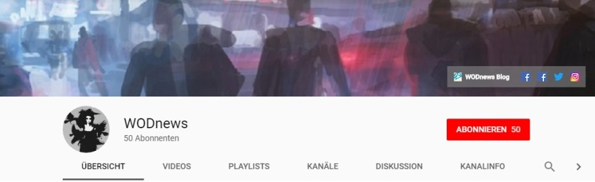 Youtube Kanal WODnews - Kanal Banner (Screenshot)