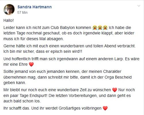Club Babylon Schwarz Larp - Suche nach Nachfolger*in
