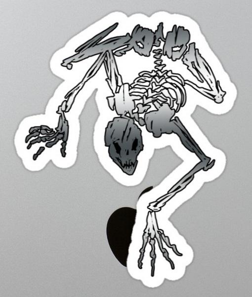 Skelettkriecherpflanze Sticker von Onyx Path (Skeleton Creeper)