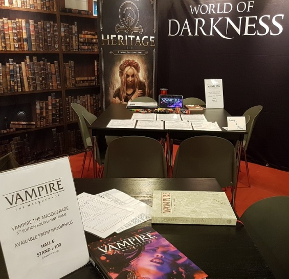 SPIEL 2018 - Vampire: Die Maskerade Pen & Paper Tische auf der Convention