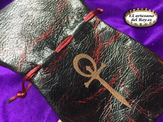 Würfelbeutel für die 5. Edition Vampire: Die Maskerade von El artesano del Rey - Würfelbeutel in der Nahaufnahme