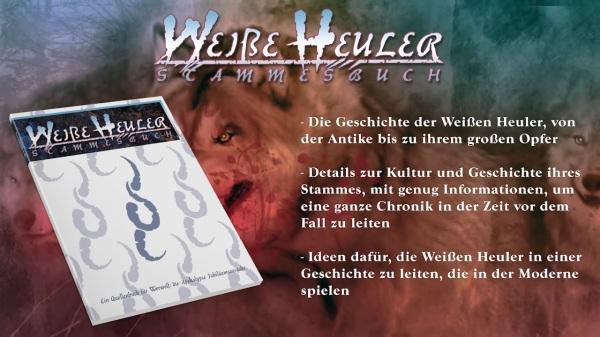 Vampire & Werwolf: Die Jubiläumsausgaben - Ulisses Spiele - Weiße Heuler Stammesbuch