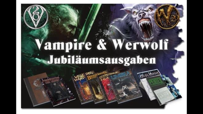 Vampire & Werwolf: Die Jubiläumsausgaben - Ulisses Spiele - Thumbnail des YouTube Videos