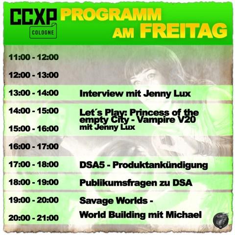 CCXP 2019 Cologne - Ulisses Spiele - Programm am Freitag (13 bis 14 Uhr Interview, 14-16 Uhr Let's Play)