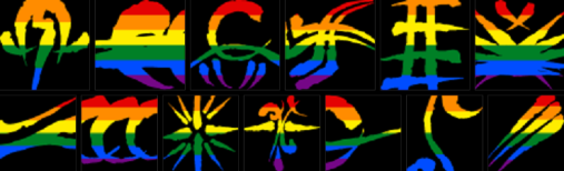 LGBT-Regenbogenflaggen Banner für Werwolf: Die Apokalypse